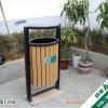 供应贵州钢木垃圾桶 园林垃圾桶 行业首选 四星环保