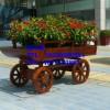 直销福建实木花箱,浙江花车花槽,长沙环境美化花车