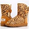 供应雪地靴厂家批发代发零售 典雅大豹纹女式中筒雪地靴