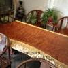 水波纹巴花大板 巴花家具 原木大板 红木工艺品