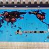供应展厅时间世界地图屏